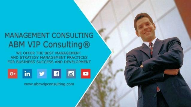 ABM VIP Consulting® Management Consulting