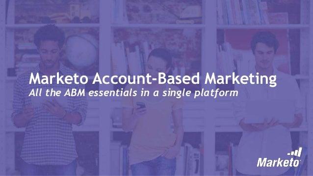 Marketo User Groups: Account-Based Marketing