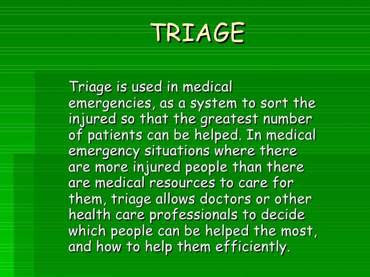 Abnormal Diagnosis Of Emergency Department Triage Explored With