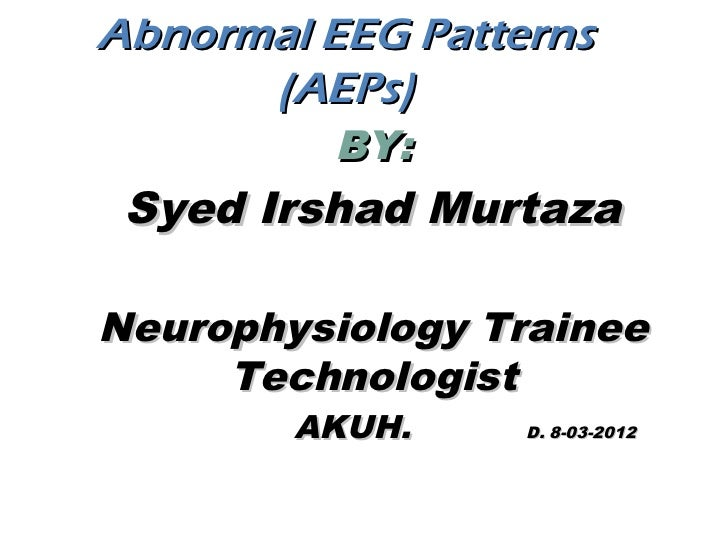 Abnormal EEG patterns