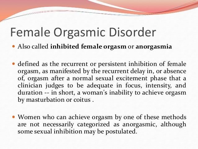 Define multiple female orgasm