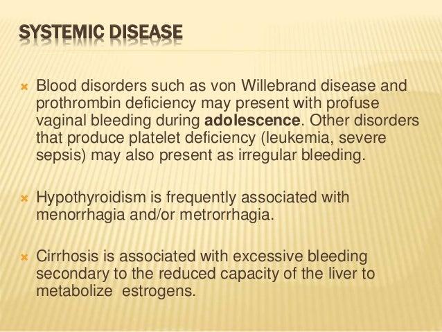 Liver disease and vaginal bleeding