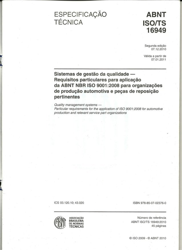 Iso Ts 16949 Pdf Portugues