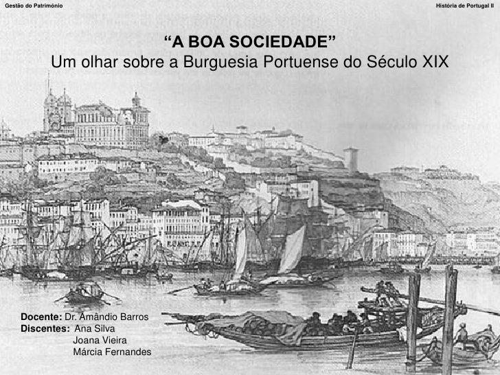 """Gestão do Património                                           História de Portugal II                                  """"A..."""