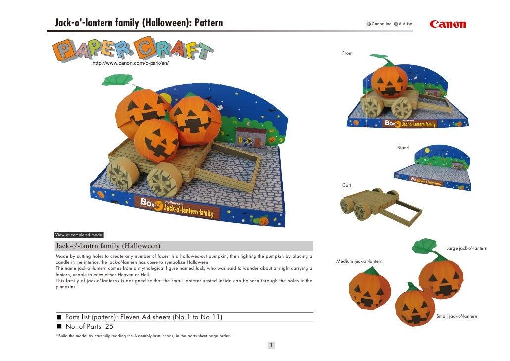 Jack-o-lantern family (Halloween): Pattern                                                                                ...
