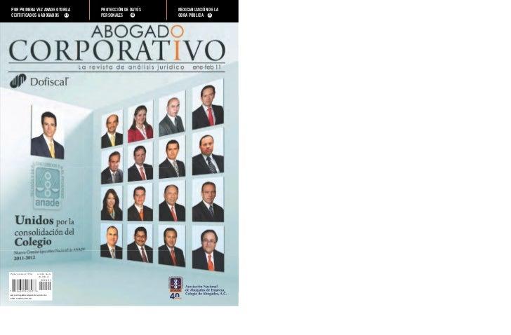 POR PRIMERA VEZ ANADE OTORGA        PROTECCIÓN DE DATOS   MEXICANIZACIÓN DE LACERTIFICADOS A ABOGADOS 94                  ...