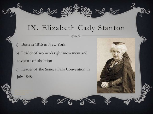 An autobiography of elizabeth cady an american lady that fought for womens right to vote