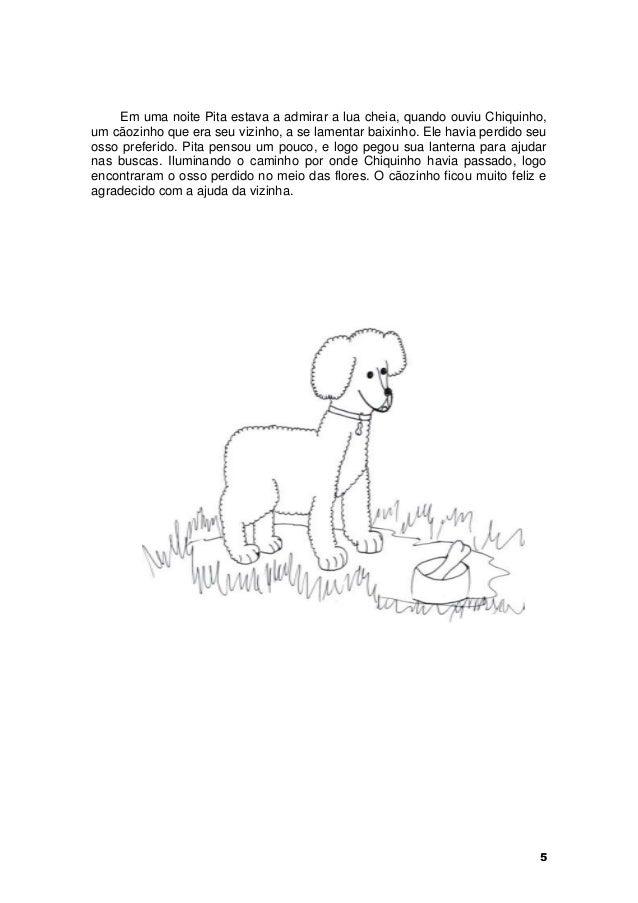 Em uma noite Pita estava a admirar a lua cheia, quando ouviu Chiquinho,  um cãozinho que era seu vizinho, a se lamentar ba...