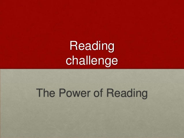 Reading challenge The Power of Reading