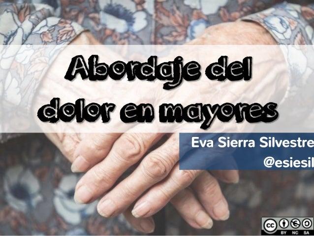 Eva Sierra Silvestre @esiesil