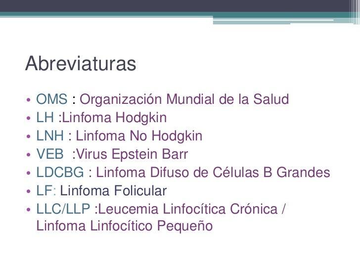 Abordaje del paciente con linfoma Slide 3