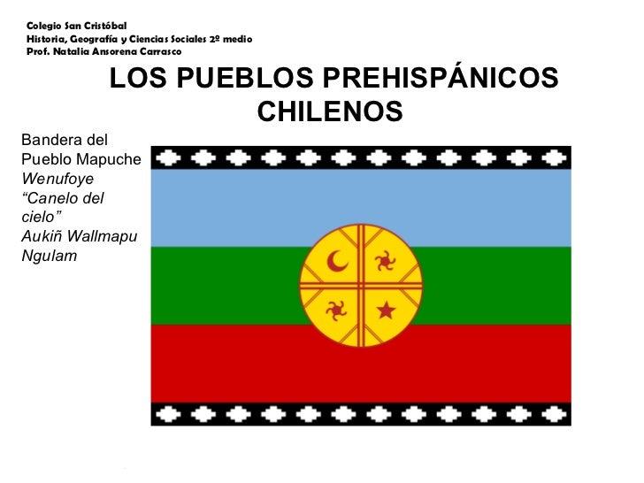 """LOS PUEBLOS PREHISPÁNICOS CHILENOS  Bandera del Pueblo Mapuche  Wenufoye  """" Canelo del cielo"""" Aukiñ Wallmapu Ngulam Colegi..."""