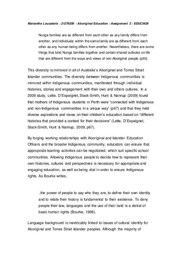 aboriginal culture essay