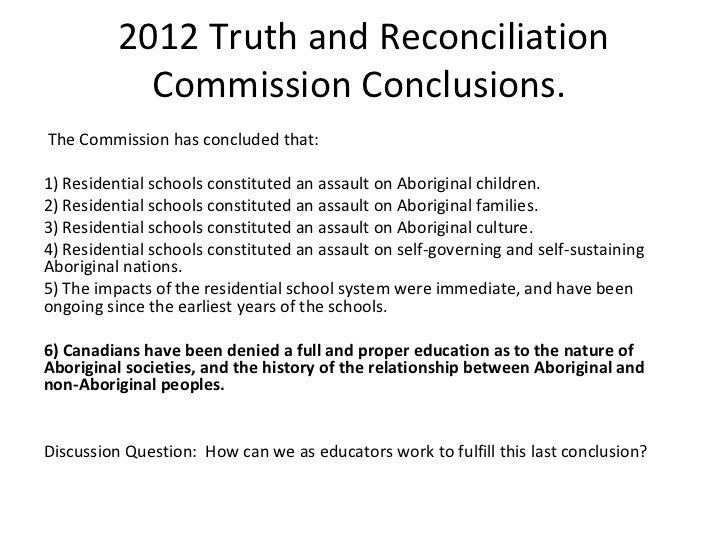 truth and reconciliation commission essay
