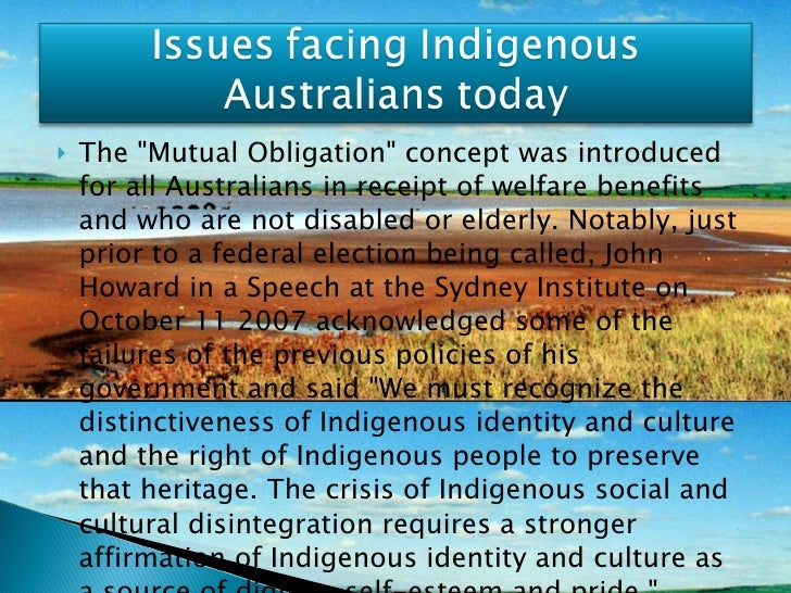 <ul><li>The &quot;Mutual Obligation&quot; concept was introduced for all Australians in receipt of welfare benefits and wh...
