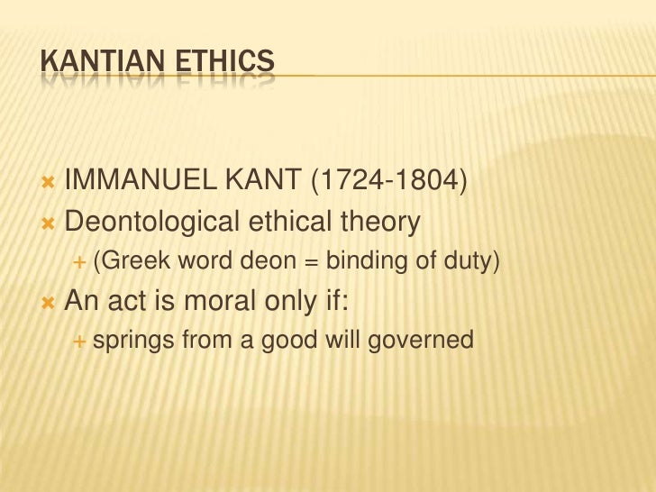 abortion  specific situation 34 kantian ethics