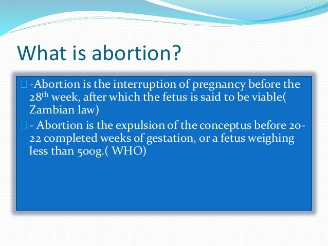 What is abortion