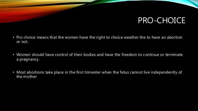 pro choice thesis