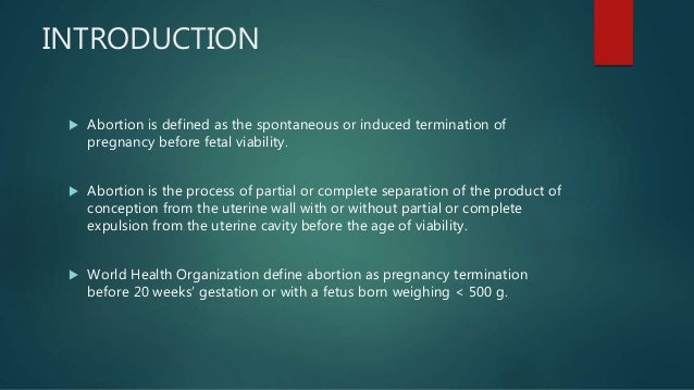 abortion meaning in english