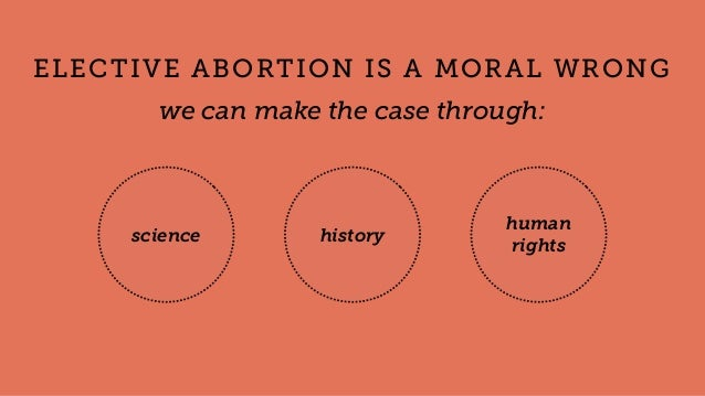 science history human rights ELECTIVE ABORTION IS A MORAL WRONG we can make the case through: