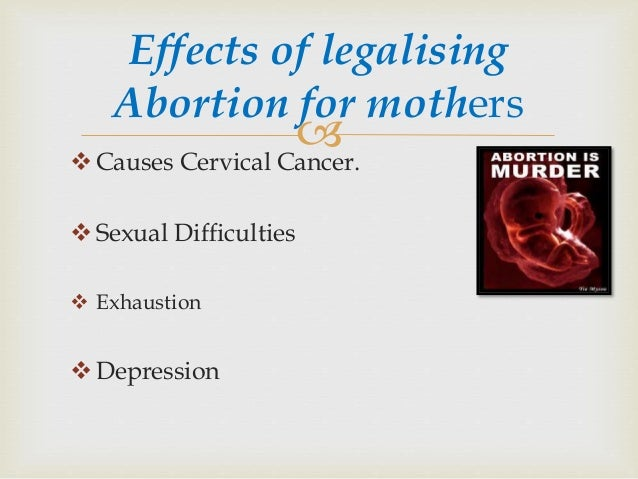 effects about abortion with society