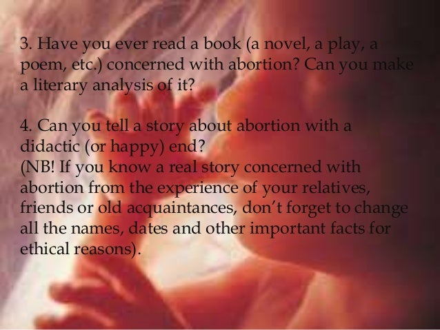 abortion analysis essay