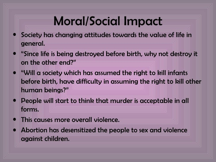 effects in abortion with society