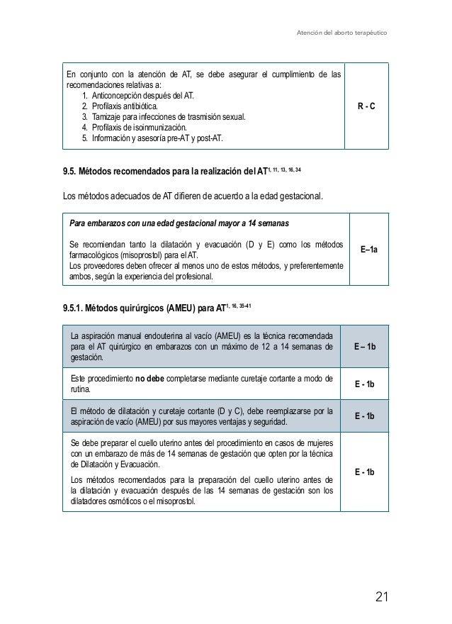 Atención del aborto terapéutico 26 12. Referencias 1. Safe Abortion: Technical and Policy Guidance for Health Systems. 2n...