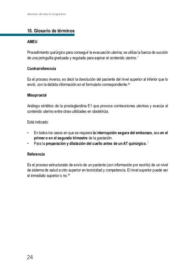 Atención del aborto terapéutico 29 36. Aston G, Bewley S. Abortion and domestic violence. The Obstetrician & Gynaecologis...