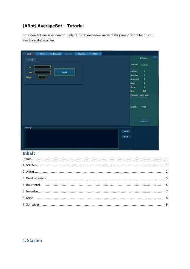 [ABot] AverageBot – TutorialBitte den Bot nur über den offiziellen Link downloaden, andernfalls kann Virenfreiheit nichtge...