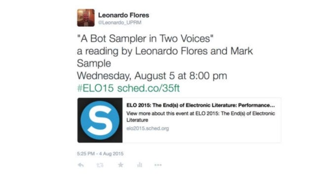 A Bot Sampler in Two Voices
