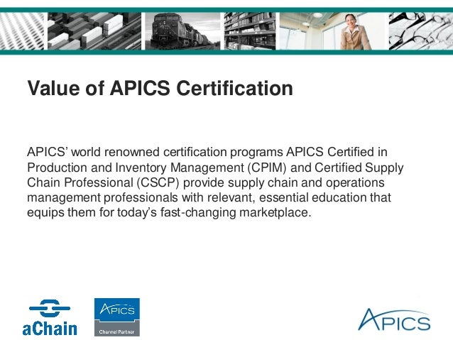 CSCP Courses, Certified Supply Chain Professional
