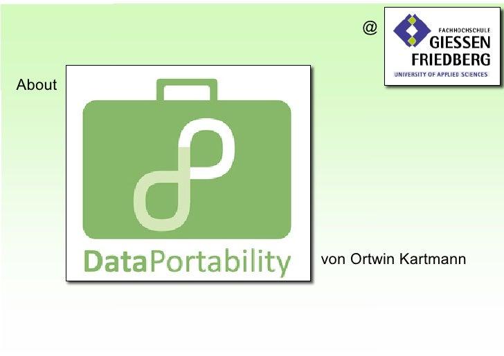 @   About             von Ortwin Kartmann