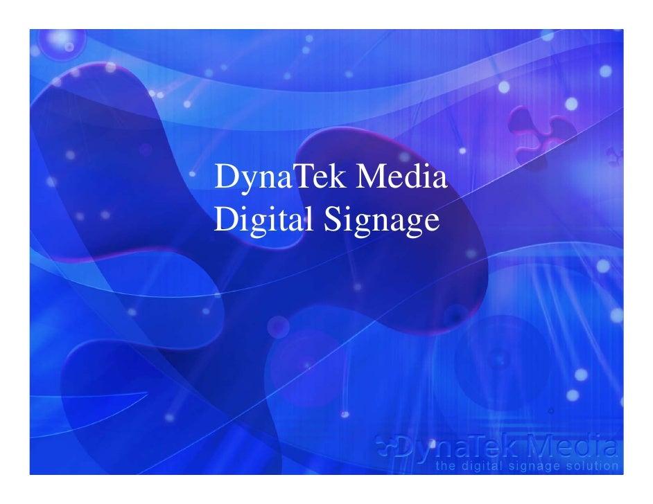 DynaTek Media Digital Signage