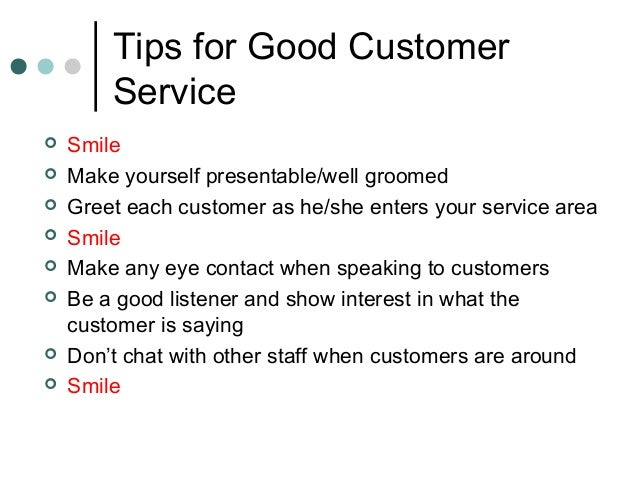 describe excellent customer service