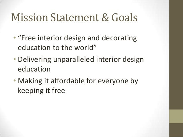 Mission Statement ...