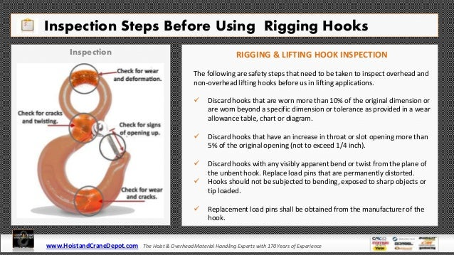 Rigging & Lifting Hooks Types, Safety, Inspection