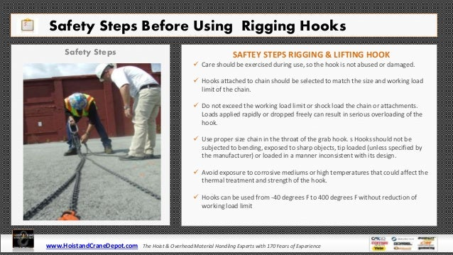 Rigging  U0026 Lifting Hooks Types  Safety  Inspection