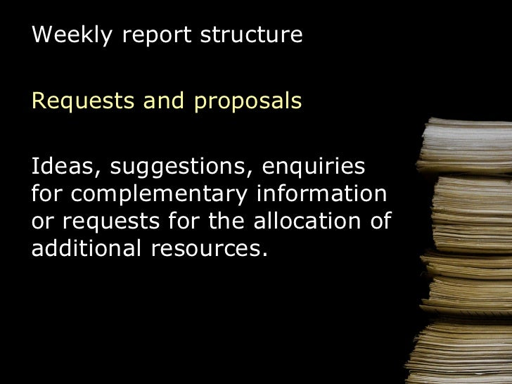 How to Write a Weekly Report