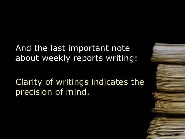 How to Write a Weekly Report – Weekly Report Writing