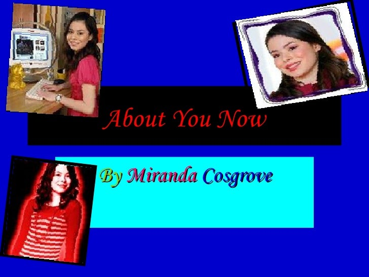 About You Now By  Miranda  Cosgrove