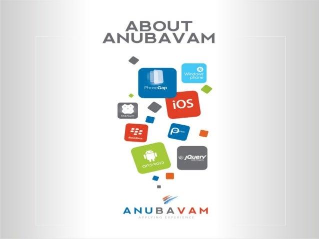 Anubavam's story starts with YOU…