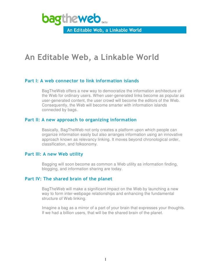 An Editable Web, a Linkable World Slide 2