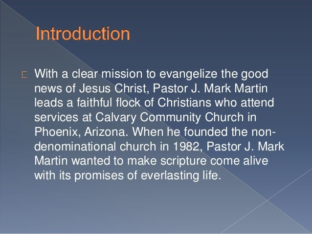 About Calvary Community Church Ministries