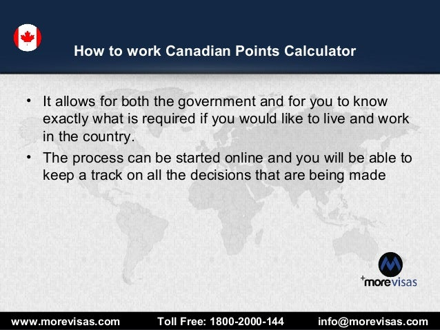 About canada federal skilled worker points calculator.