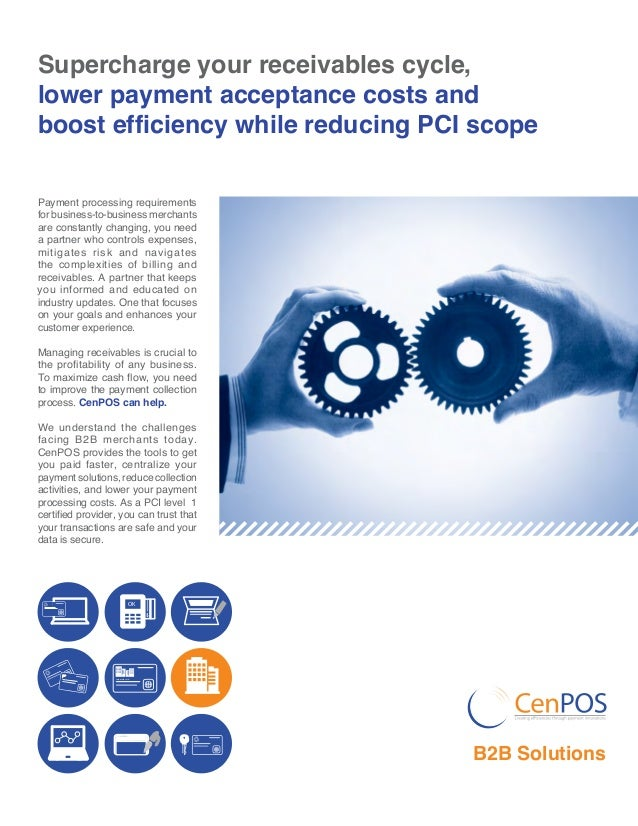 Supercharge your receivables cycle, lower payment acceptance costs and boost efficiency while reducing PCI scope Payment p...