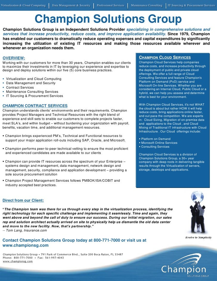 Virtualization & Cloud Computing   Data Management & Security      Professional Services   Maintenance Consulting    IT So...