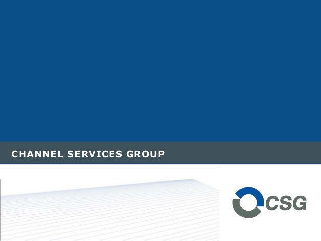 CHANNEL SERVICES GROUP