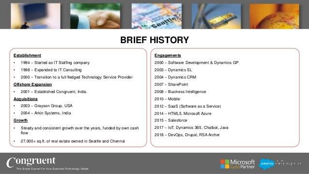 Congruent - Company Overview Slide 2