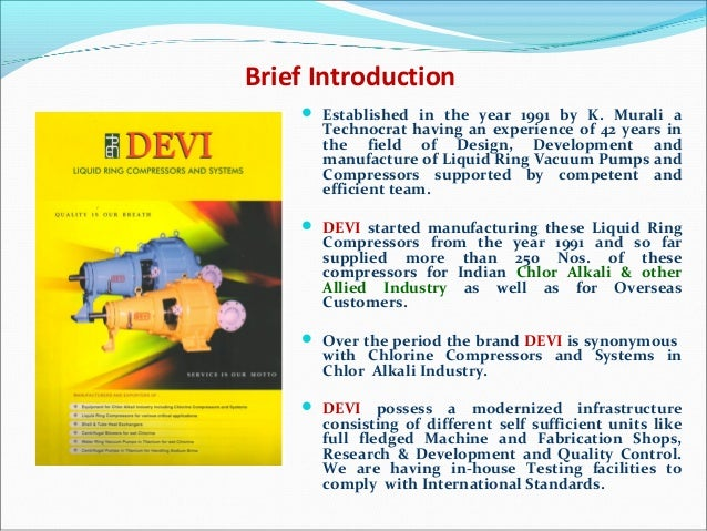 Brief Introduction  Established in the year 1991 by K. Murali a Technocrat having an experience of 42 years in the field ...